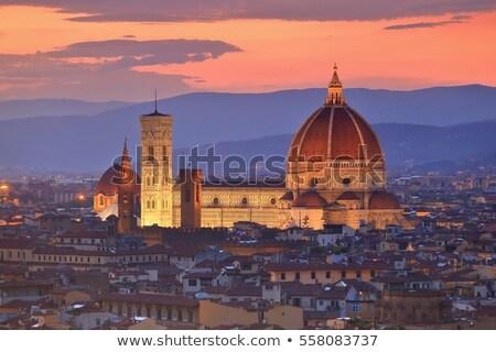 мнение · Флоренция · вечер · Италия · холме · город - Сток-фото © borisb17