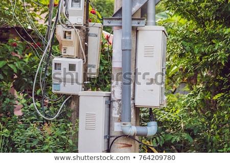 Elektrische pijler asia stad straat telefoon Stockfoto © galitskaya