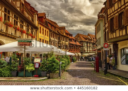 historic houses on Obernai, Alsace, France Stock photo © borisb17