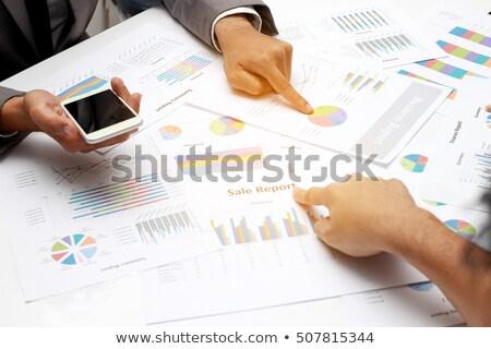 Data Driven Marketing Graph On Laptop Stock photo © AndreyPopov