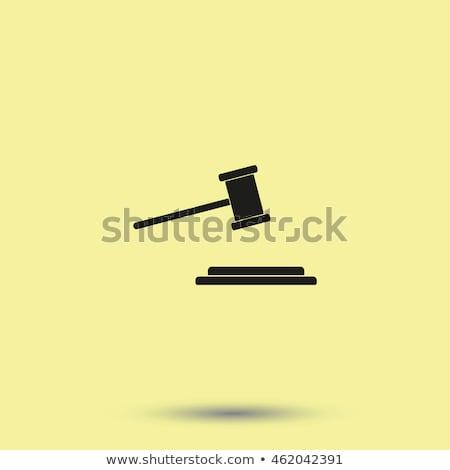 prawa · wyrok · ikona · wektora · cienki - zdjęcia stock © pikepicture