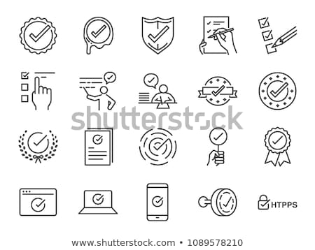 Protection Agreement Icon Vector Outline Illustration Stock photo © pikepicture