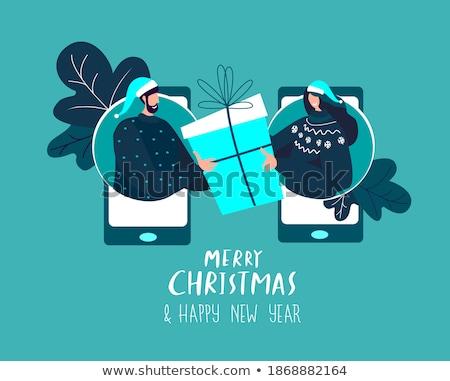 Voorbereiding geschenken online aanwezig vak vector Stockfoto © robuart
