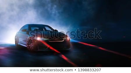 未来的な 車 ヘッドライト 技術 都市 ランプ ストックフォト © nomadsoul1