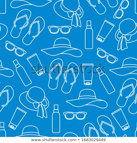 Sunscreen Seamless Pattern Vector Stock photo © pikepicture