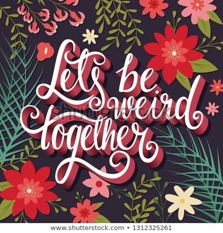 Strano insieme mano tipografia moderno poster Foto d'archivio © BlueLela