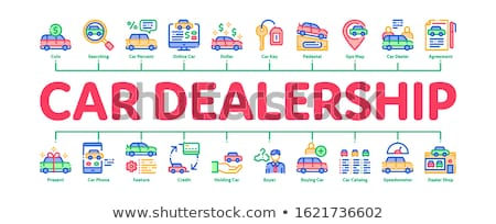 Car Dealership Shop Minimal Infographic Banner Vector Stock photo © pikepicture