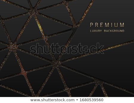 Vector abstract black layered background with golden halftone effect. Glitter dotted sparkles shine  Stock photo © Iaroslava