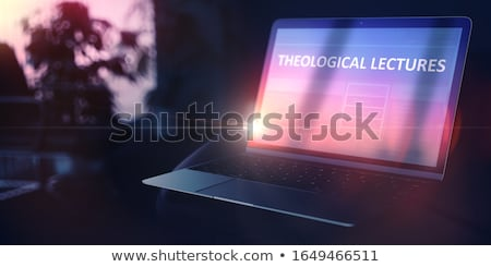 Self Education Concept Religious Lecture Online On Ultrabook 3d Foto stock © Tashatuvango