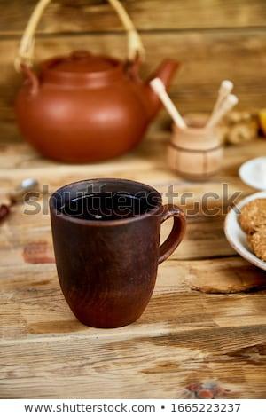 Chá da tarde chá bule mel Foto stock © Illia