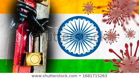 coronavirus covid19 outbreak in country india background Stock photo © SArts