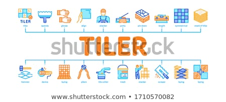Tiler Work Minimal Infographic Banner Vector Stock photo © pikepicture