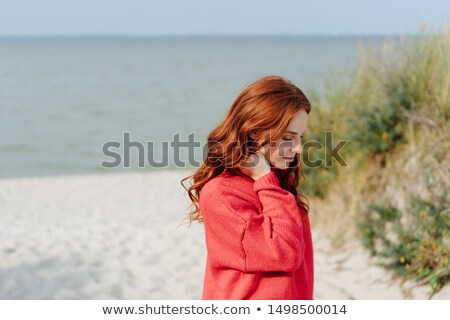 Thoughtful despondent young woman Stock photo © Giulio_Fornasar