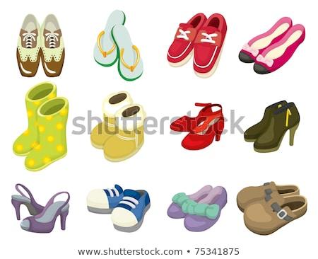 Skóry buty obiektu cartoon clipart ilustracja Zdjęcia stock © izakowski