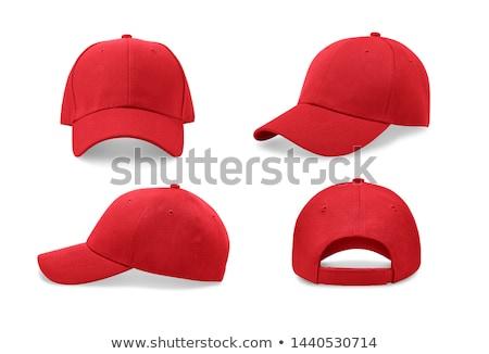 Red baseball cap isolated on white Stock photo © tetkoren