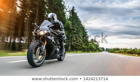 motorkerékpár · sziluett · absztrakt · vektor · művészet · illusztráció - stock fotó © sahua