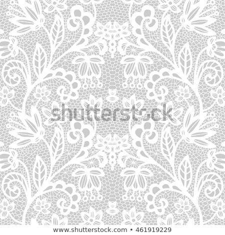 Foto stock: Decorativo · branco · renda · flor · textura · fundo