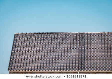 solar roofing tiles Stock photo © Hasenonkel