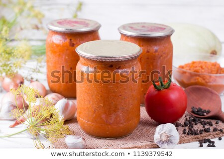 Canned squash and tomatoes Stock photo © RuslanOmega
