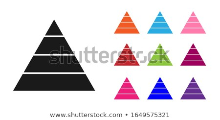 set of vector pyramids stock photo © vtorous