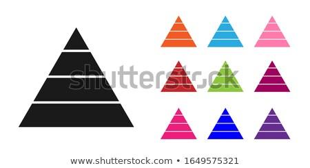 Ingesteld vector piramides bouw groep fase Stockfoto © vtorous