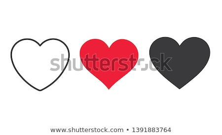 Coeur amour feuille cadre silhouette usine Photo stock © -Baks-