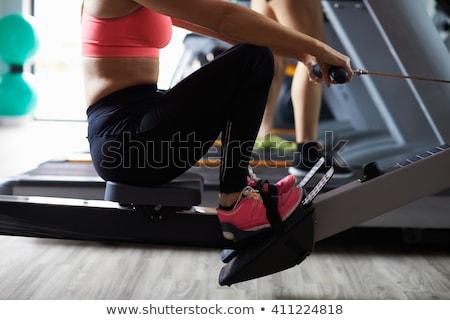 aerobik · cardio · szkolenia · kobieta · rower · siłowni - zdjęcia stock © photography33