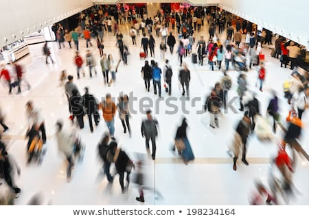 people in rush in shopping mall centre stock photo © photocreo
