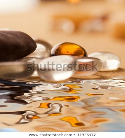 Arany borostyánkő higgadt víz tenger divat Stock fotó © photocreo