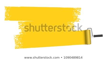 Stockfoto: Schilderij · geïsoleerd · witte · bouw · werk · achtergrond
