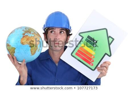 Ambachtsman energie verbruik label bouw Stockfoto © photography33