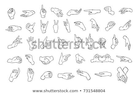 Izolált kézfogás kézmozdulat szóbeli testbeszéd kéz Stock fotó © mnsanthoshkumar
