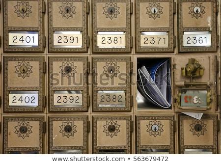 красный почтовое отделение окна мнение почтовый ящик Сток-фото © luapvision