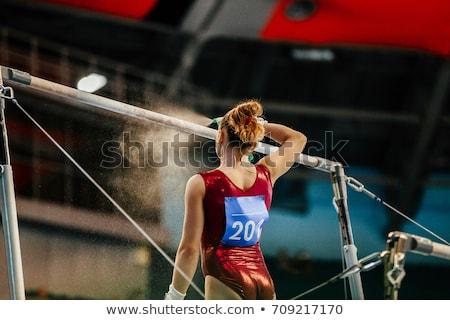 Atléta tornász görög művészet stilizált nő Stock fotó © sahua