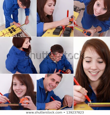 Homme · plombier · pipe · sourire · heureux · travaux - photo stock © photography33
