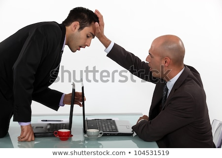 businessman cheating in exam stock photo © photography33