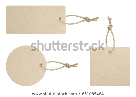 Blank brown paper tag tied with brown string Stock photo © williv