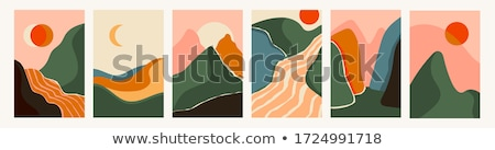 Stock photo: river and mountain