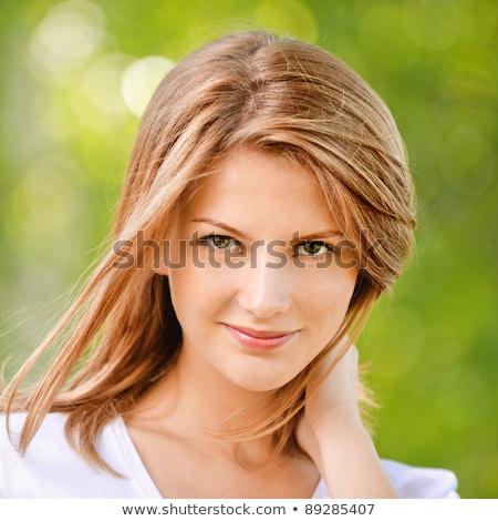 retrato · magnífico · cara · manos - foto stock © photography33