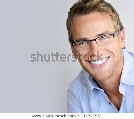 портрет молодые модный деловой человек улыбаясь фон Сток-фото © get4net