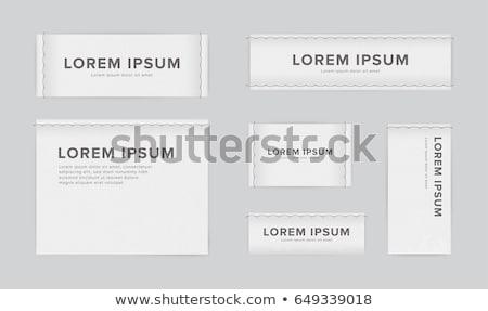 Clothing label Stock photo © grafvision