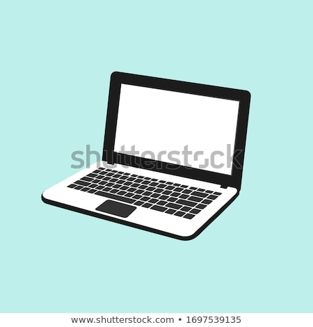 Egyszerű laptop egyszerűsített képernyő copy space kommunikáció Stock fotó © JohanH