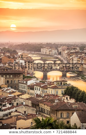 Ponte Vecchio on the Arno river Stock photo © ajlber
