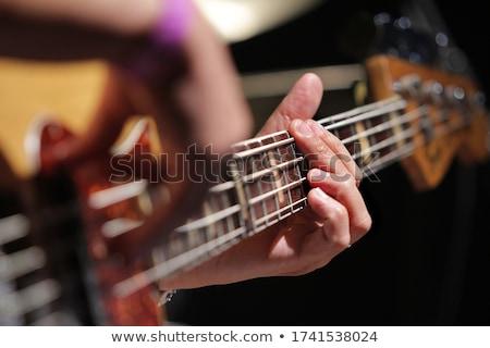 Bas oyuncu oynama sahne kadın davulcu Stok fotoğraf © sumners