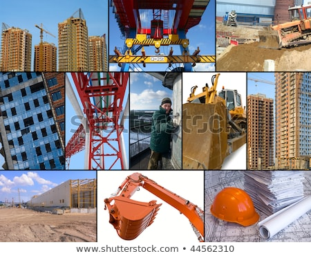 montage of crane on construction site stock photo © photography33