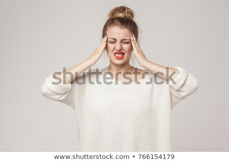 young blonde having migraine Stock photo © photography33