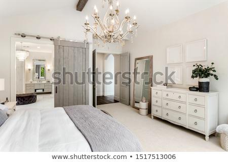Tágas mester hálószoba luxus ház ágy Stock fotó © epstock