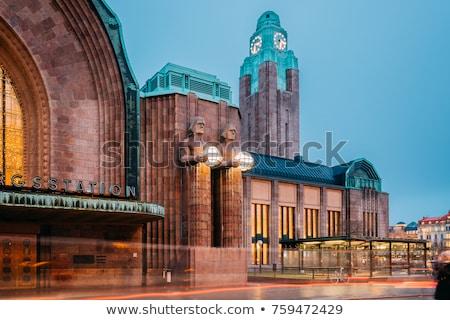Helsinki tren istasyonu panorama şehir Finlandiya Stok fotoğraf © maisicon
