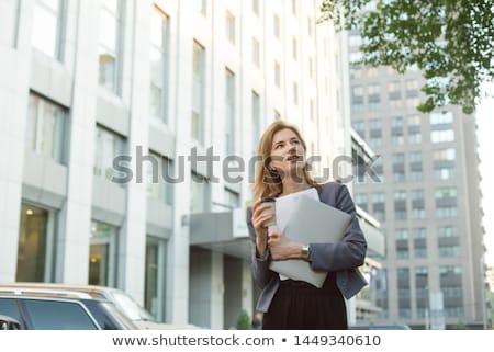 человека · костюм · ноутбука · белый - Сток-фото © get4net