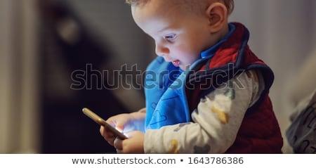 síndrome · sorrir · feliz · olhos - foto stock © clearviewstock